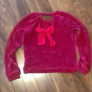Jessica Simpson red sweater with bow medium